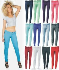NEW LADIES DENIM EFFECT STRETCH SKINNY FIT JEANS WOMENS JEGGINGS SIZE: 8 TO 14