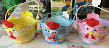 Hen Shaped Easter Egg Basket 1 of 3 colours Cloth/Card Table Decorations Party