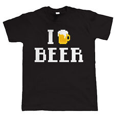 I Love Beer 8 Bit Video Game Style T Shirt