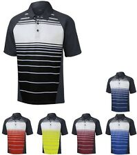 MEN'S MOISTURE & ODOR CONTROL, PERFORMANCE POLO SHIRT, STRIPED S M L XL 2X 3X 4X