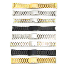 New Mens Watch Strap Bracelet STAINLESS STEEL Band Deployment Clasp speed master