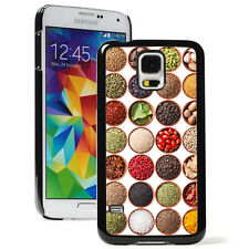 For Samsung Galaxy S3 S4 S5 S6 Hard Case Cover 988 Spices Herbs Cooking Chef