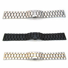 Watch Strap Bracelet STAINLESS STEEL 18mm-32mm Band Hidden Deployment Clasp S54