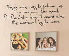Friendship is Measured by the Heart Wall Decal Vinyl Sticker Art Decor Quote A66