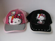 Girls Hello Kitty Caps Pink & Black