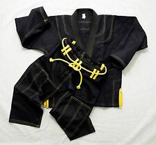 YOUTH * SUMMER WEIGHT**BRAZILIAN JIU JITSU KIMONO/ GI* BLACK*WHITE*SIZE K-1- K-4