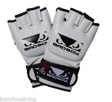 BAD BOY Pro Series MMA UFC Fight Sparring Gloves WHITE NEW Small Medium Large XL