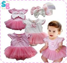 NEW BABY GIRL CLOTHES FAIRY PRINCESS PARTY DRESS OUTFITS SET 6-9-12-18-24 MONTHS