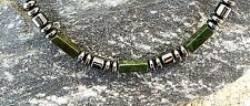 Men's Jade with Magnetic Hematite Bracelet / Anklet THERAPY GOLF 1-2 row