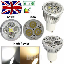 UK 4/60x LED Bulbs GU10 4W 6W 9W 15W High Power Spot Light Lamp Warm/Day White