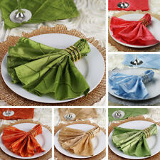 """50 pcs Pintuck 17x17"""" TABLE NAPKINS Wedding Party Catering Banquet Linens SALE"""