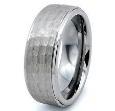 Tungsten All Size Mens Carbide 8MM Silver Wedding Band Ring Never Tarnish M27
