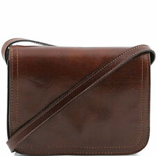 TUSCANY LEATHER shoulder leather bag with flap large size made in Italy