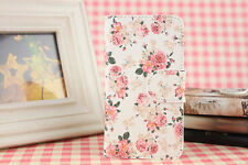 New Pink Flower PU Leather Full Cover Case For Acer Alcatel Samsung phones