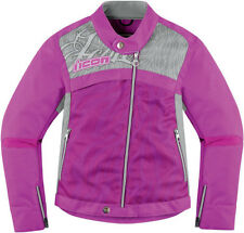 ICON 1000 HELLA 2 TEXTILE MOTORCYCLE STREET RIDING JACKET WOMENS PURPLE LADIES