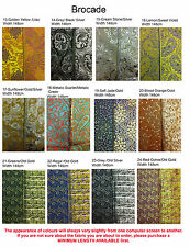 Brocade, MADE IN FRANCE, paisley and swirls paterns, many colours *UK depot*