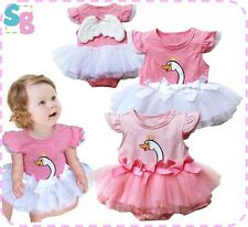 BABY GIRL CLOTHES FAIRY PRINCESS TUTU SUMMER PARTY DRESS OUTFITS SET 6-24 MONTHS