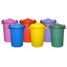 50L 50 Litre Plastic Colour Bin Garden Rubbish Waste Dustbin Animal Feed Storage