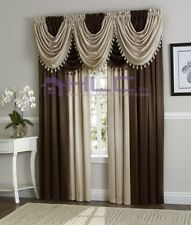 Hilton Luxurious Window Treatment Curtain Panel & Valance