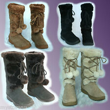 Genuine UGG Australia Rubber Sole Outdoor Premium Sheepskin Tall Boots