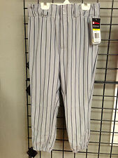 Wilson Youth Pinstripe Baseball Pants with Beltloops grey with Navy NWT knickers