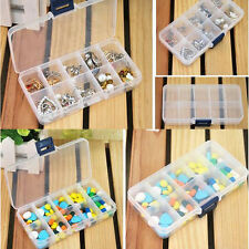 Plastic 10/15/24 Slots Jewelry Adjustable Tool Box Case Craft Organizer Storage