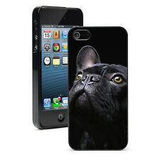 For Apple iPhone 4 4S 5 5S 5c Hard Case Cover 1098 Black French Bulldog Dog