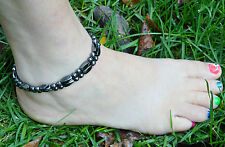 Men's Women's All Magnetic Bracelet / Anklet SUPER STRONG Faceted! WOW 1-2-3 row