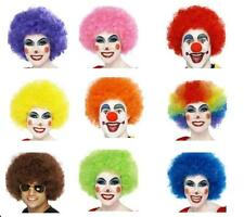 Mens Womens Afro Wigs Fun Funky Clown Neon Fancy Dress Festival Stag Hen Party