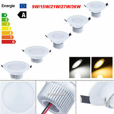 White 9W 15W 21W 27W 36W Dimmable LED Recessed Ceiling Spot Down Light Bulb Lamp