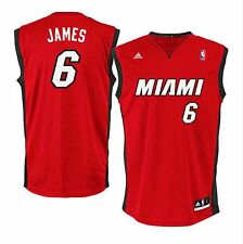 "LeBron James #6 ""Miami"" Heat Swingman Men's adidas Jersey Red"