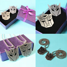 Hot Special Transformers Mask Stainless Steel Pendant Necklace with Box-US SHIP