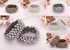1x Fashion Gothic Style Punk Rock Studs Spike Rivets Shaped Stretch Bracelet
