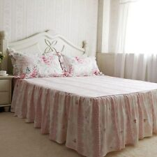 Shabby and Elegant New Pink Roses  Cotton Bed Skirt 1105