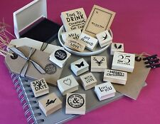 East of India Rubber Stamps Stamp Vintage Chic Gift Tags Wedding Christmas Ink