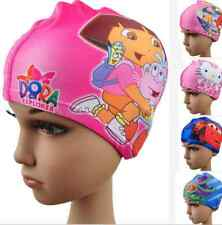 New Kids  Nylon Lycra Swim Caps Children Swimming Bathing Suit 10 patterns