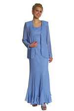 Homecomin Mother of the Bride Groom Long Chiffon Dress Jacket Formal On Sale