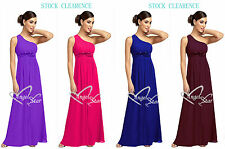 Royal Blue/Cadbury Purple Chiffon Party Wedding Bridesmaid Dress UK Stock 8 - 24