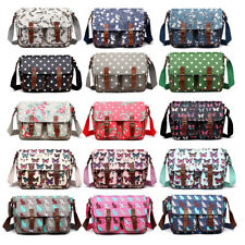 LADIES OILCLOTH SMALL /LARGE SATCHEL MESSENGER CROSS BODY SCHOOL SHOULDER BAG A4