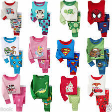 NEW Cotton Sleepwear Pajama Sets for 5 Years Old Kids Boys Girls, Multi-color