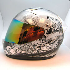 NEW 1STORM Adult Motorcycle Bike Full Face Helmet Booster Wolf Black S M L XL