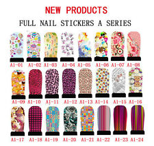 Fashion wholesale 12 pcs Nail Wraps Adhesive Polish Foil Decoration Art Decals