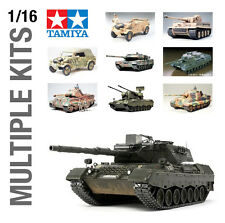TAMIYA 1/16th MILITARY ARMY PLASTIC MODEL KIT BUILD YOURSELF - ALL SETS!