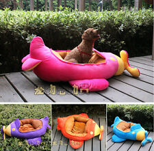 New 2014 Fashion Luxury Carton Cute Jet Plane Dog Pet Cat Bed House 4 Color