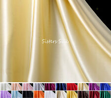 0.5 YARD 100% SILK 19MM SATIN FABRIC BRIDAL CLOTHING SEWING QUILTING WIDE 45""