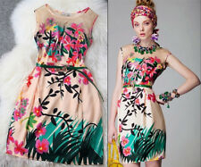Fashion Runway embroidered organza silk one-piece dress silky flower embroidery
