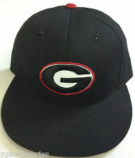 NCAA Georgia Bull Dogs Mitchell & Ness Basic Logo Fitted Cap Hat M&N NEW