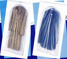 Transparent Garment Clothes Suit & Dress Storage Bag Dust Cover Travel Carrier