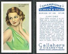 Gallaher - Champions of Screen & Stage (Blue) 1934 #1-#48 Movie Cigarette Cards