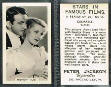 Jackson - Stars In Famous Films 1934 #1 to #28 Film/Movie (from £1.88 each)